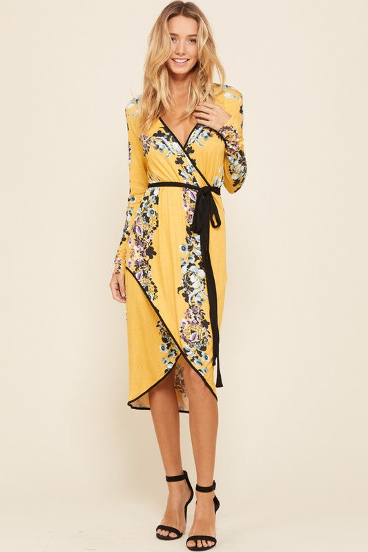 Floral Wrap Dress - Chica Boutique NY