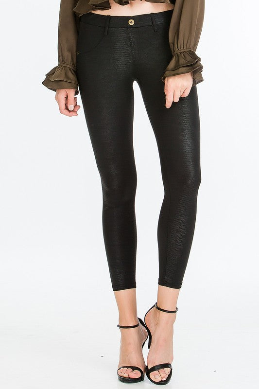 Snake Pleather Jeggings