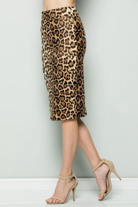 In The Wild Animal Print Skirt - Chica Boutique NY