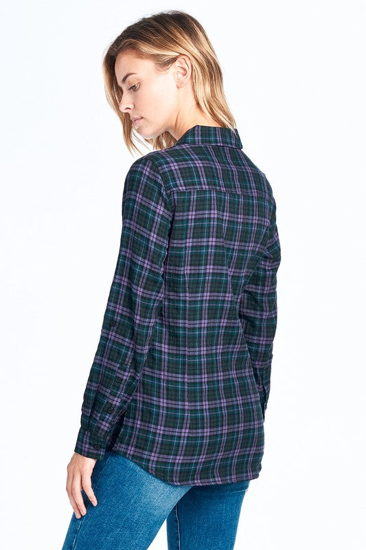 Plaid Flannel Button Down