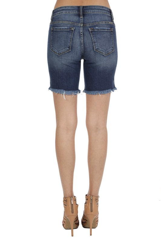 Kancan Long Destroyed Denim Short - Chica Boutique NY