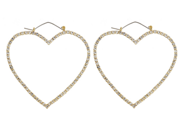 Heart Pin Earring