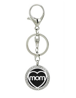 Mom Aromatherapy Locket Essential Oil Diffuser Keychain