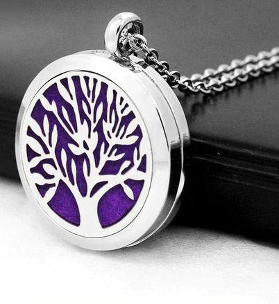 X Aromatherapy Locket Essential Oil Diffuser Necklace