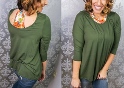Olive Faux Brallete Top