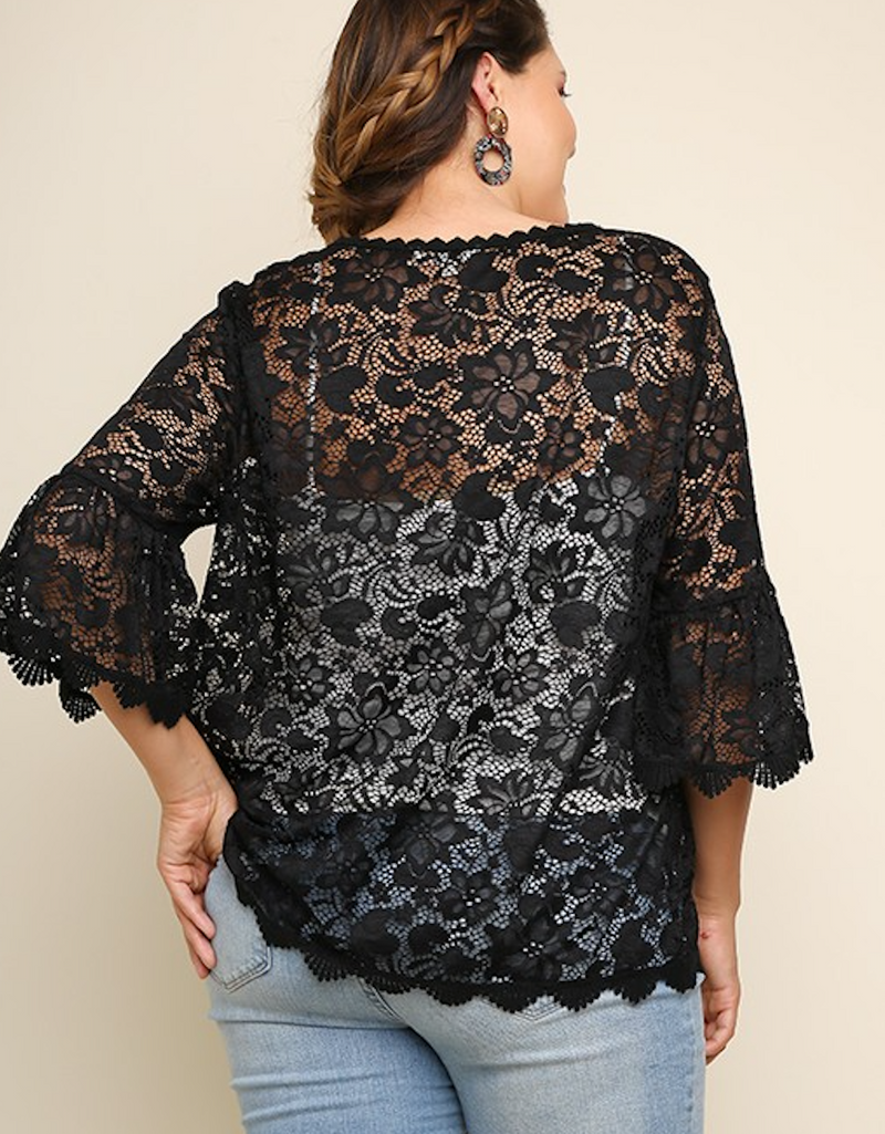 Plus Style Lace Top