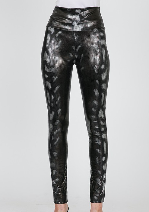 Faux Python Leather Pants