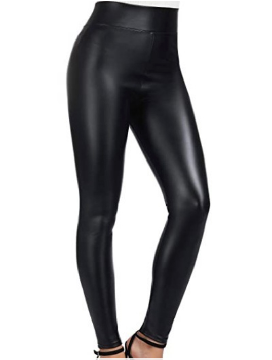 Fleece Line Faux Leather Pants