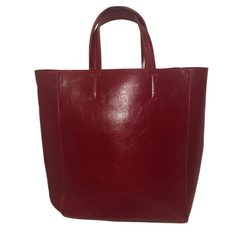 Vegan Leather Top Handle Bag