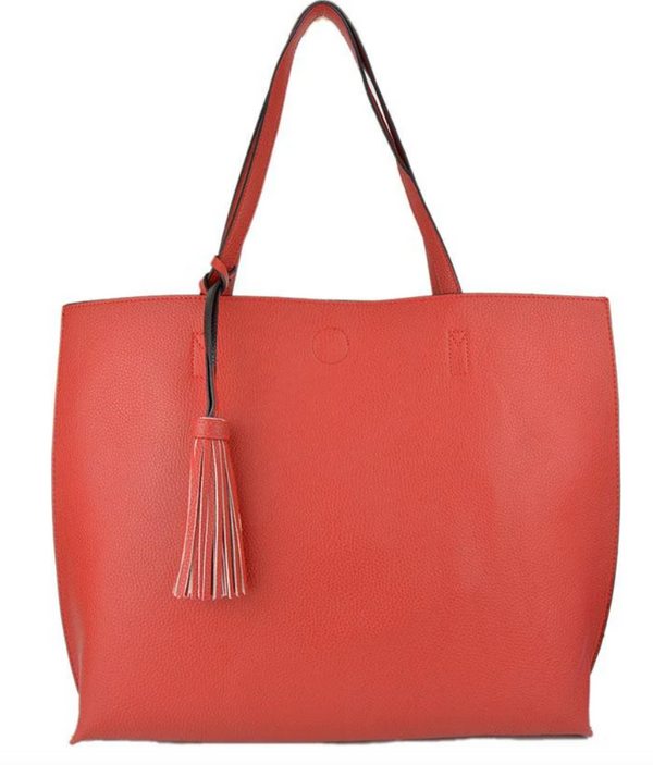 Ah-Dorned Reversible Tote w/Tassel