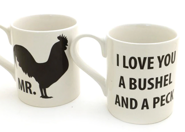 Rooster and Hen Mug Set