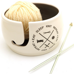 Eat Sleep Knit Yarn Bowl