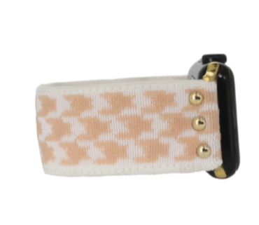 Stretchy Tessa Coral Apple Watch Band