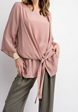 Two Layered Drape Blouse