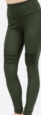 Moto Leggings Olive - Chica Boutique NY