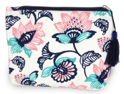 Floral Cosmetic Clutch - Chica Boutique NY
