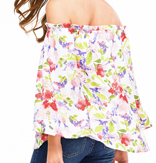 Floral Water Color Top - Chica Boutique NY