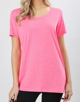 Neon Heathered Boxy Tee - Chica Boutique NY