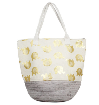 Straw Bucket Tote