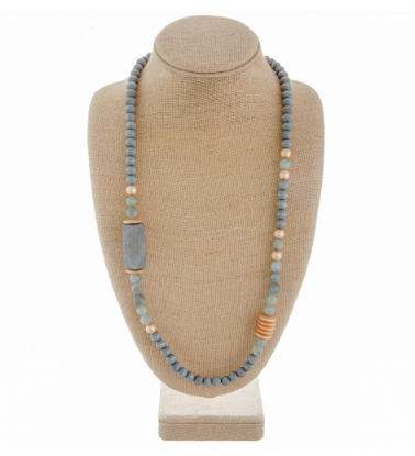 Labradorite Long Necklace - Chica Boutique NY