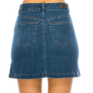 Button Me Up Denim Skirt - Chica Boutique NY