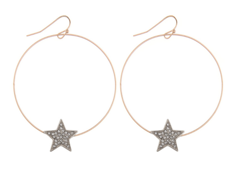 Hoop Star Earrings - Chica Boutique NY