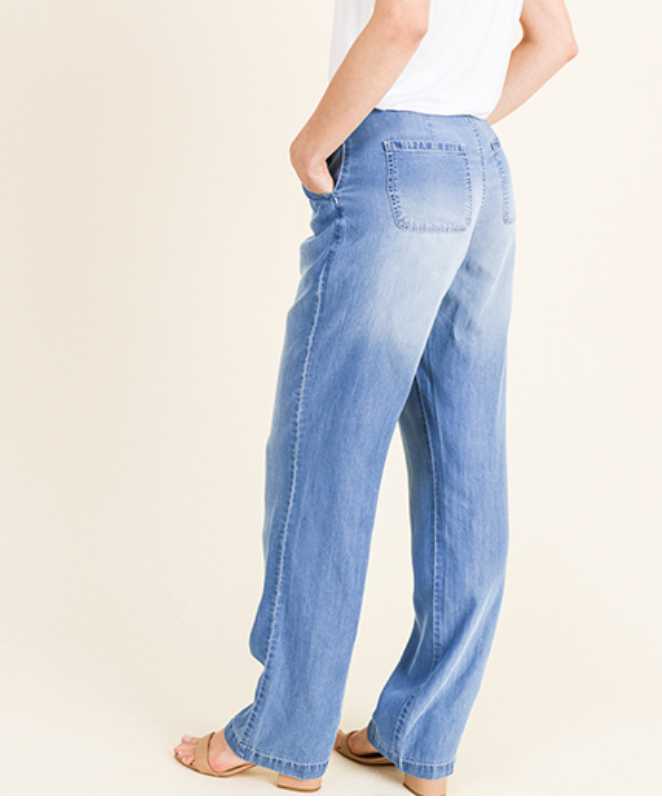 Chambray Boho Pants - Chica Boutique NY