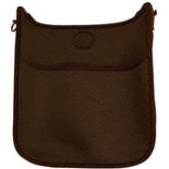 Ah Dorned Perforated Neoprene Cross Body Brown