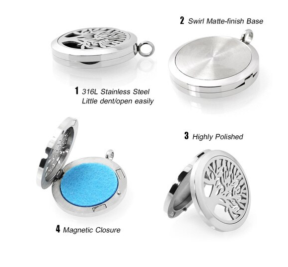 Paw Print Aromatherapy Locket Essential Oil Diffuser Keychain