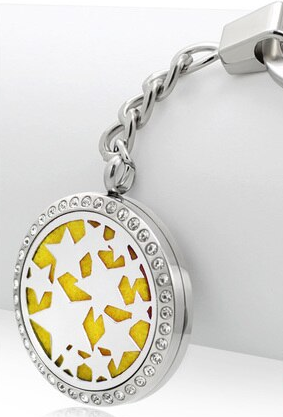 Star Aromatherapy Locket Essential Oil Diffuser Keychain