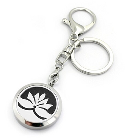 Lotus Aromatherapy Locket Essential Oil Diffuser Keychain