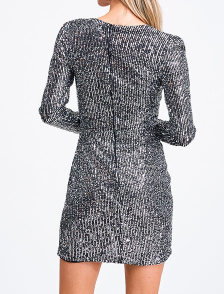 Lux Silver Sequin Dress