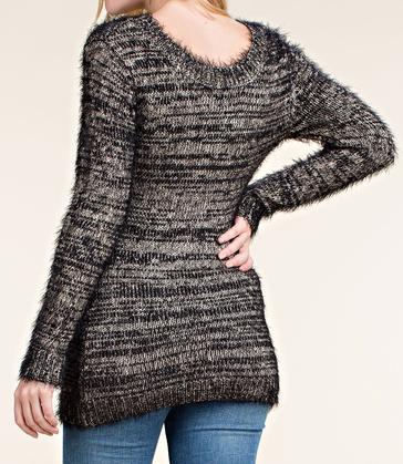 Long Knit Destroyed Sweater