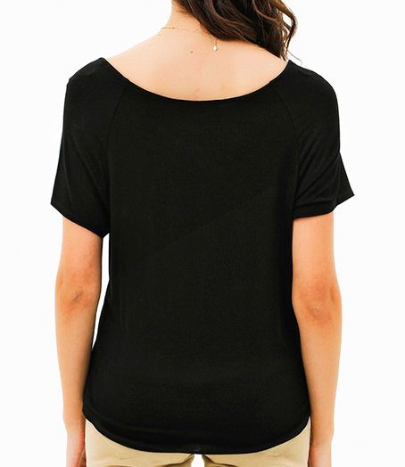 Scoop Neck Tye Front