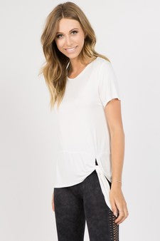 Short Sleeve Side Tie Top