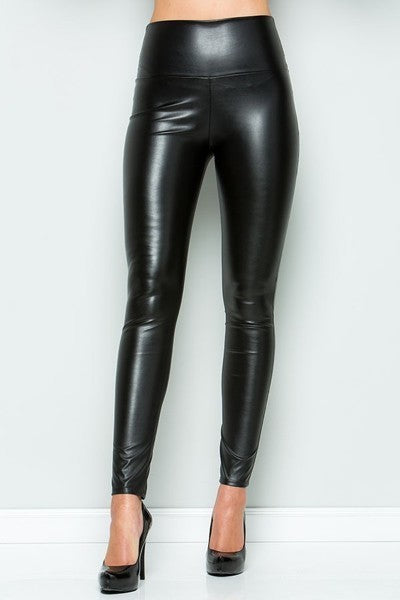 Faux Leather Pants - Chica Boutique NY