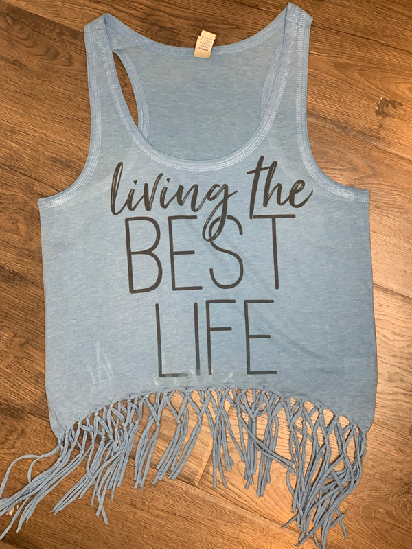 Best Life Fringe Tank - Chica Boutique NY