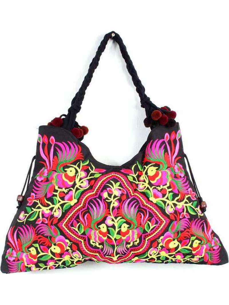 Embroidered Shoulder Bag - Chica Boutique NY