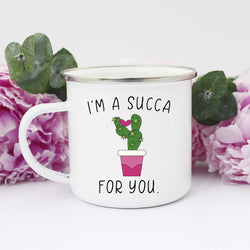 I'm A Succa For You Mug Camping Mug 10 OZ - Chica Boutique NY