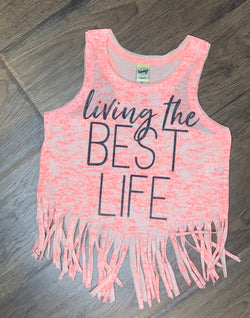 Best Life Fringe Tank Kids - Chica Boutique NY