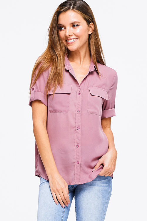 GEORGETTE SHORT SLEEVE - Chica Boutique NY