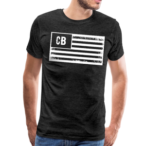 Personalized American Flag Initials T-Shirt - charcoal gray
