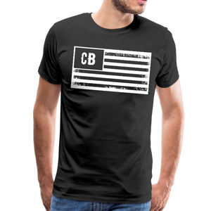 Personalized American Flag Initials T-Shirt - black