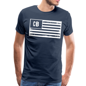 Personalized American Flag Initials T-Shirt - navy
