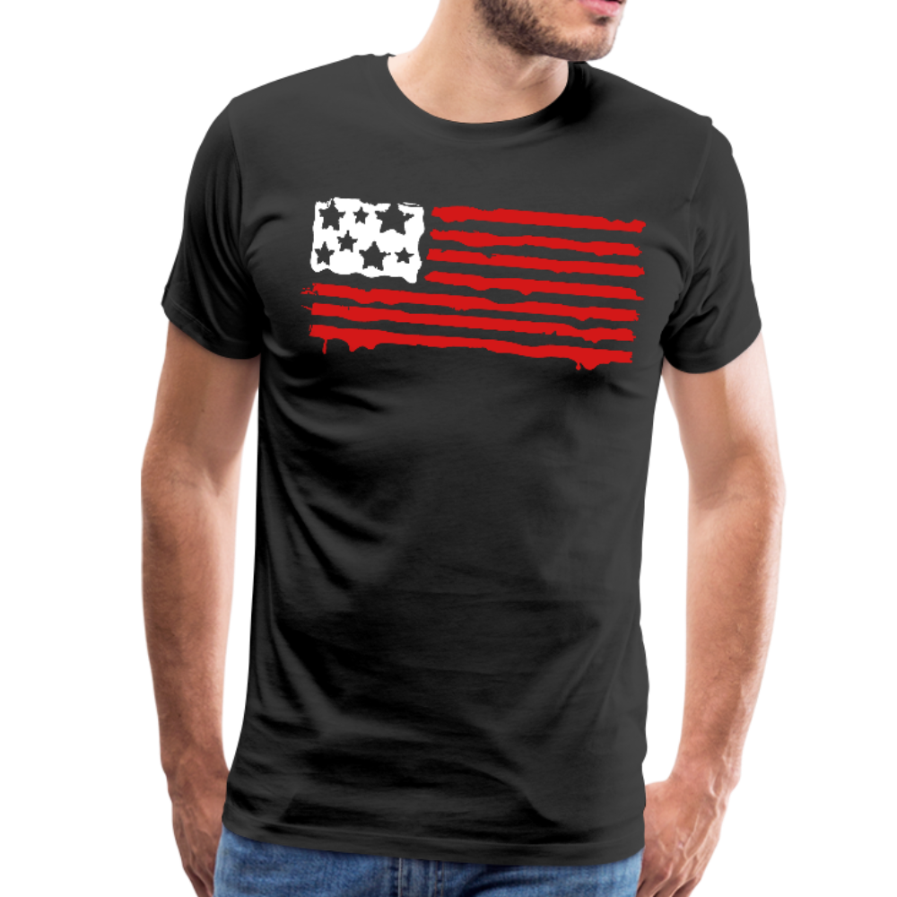 American Flag T-Shirt - Gift for Patriotic Americans - black