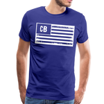 Personalized American Flag Initials T-Shirt - royal blue