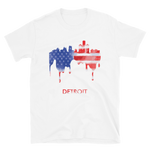 Detroit USA American Flag T-Shirt Gift