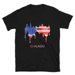 Chicago USA American Flag T-Shirt Gift