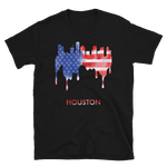 Houston USA American Flag T-Shirt Gift