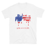 Los Angeles USA American Flag T-Shirt Gift